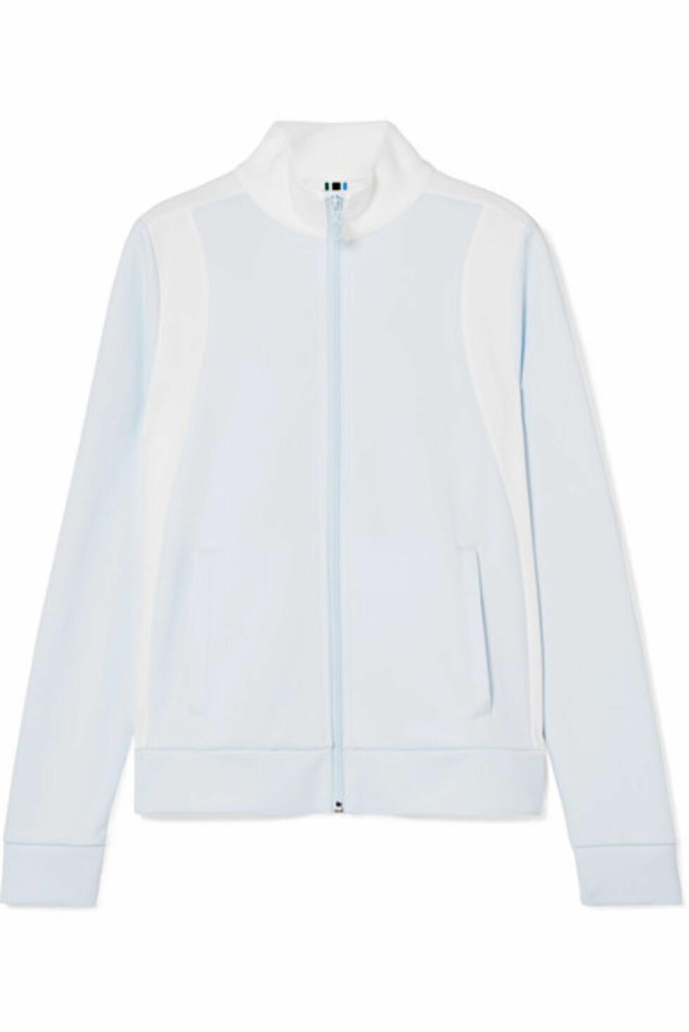 Jakke fra Tory Sport via Net-a-porter.com |1990,-| https://www.net-a-porter.com/no/en/product/1021288/tory_sport/two-tone-pique-track-jacket