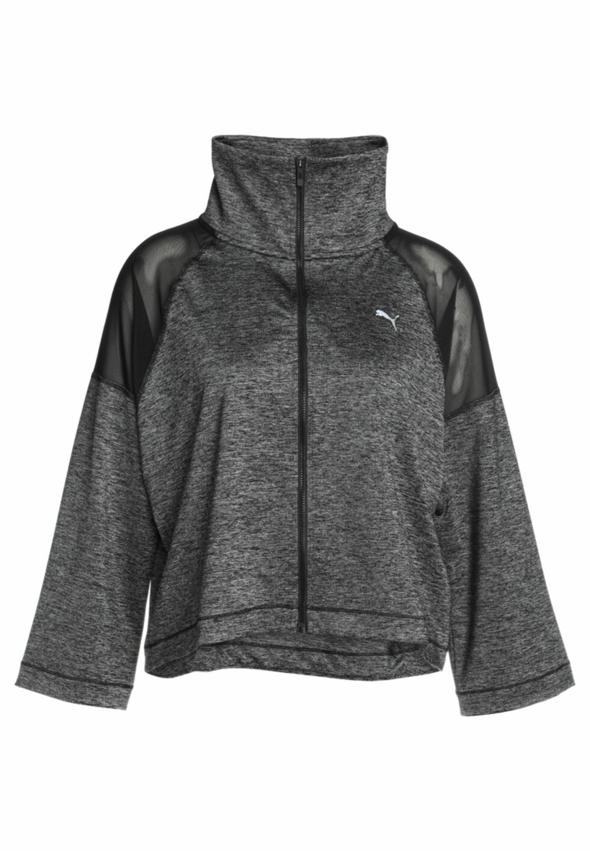 Jakke fra Puma via Zalando.no |719,-| https://www.zalando.no/puma-explosive-jacket-treningsjakke-black-heather-pu141f01s-q11.html