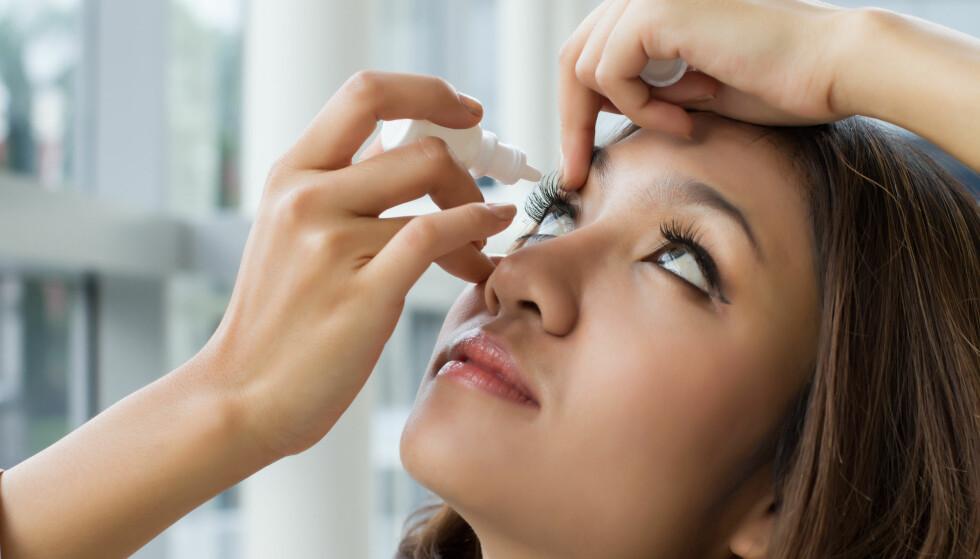 POLLENALLERGI: Kløende og rennende øyne er ofte det første symptomet på at sesongen er i gang. FOTO: NTB Scanpix