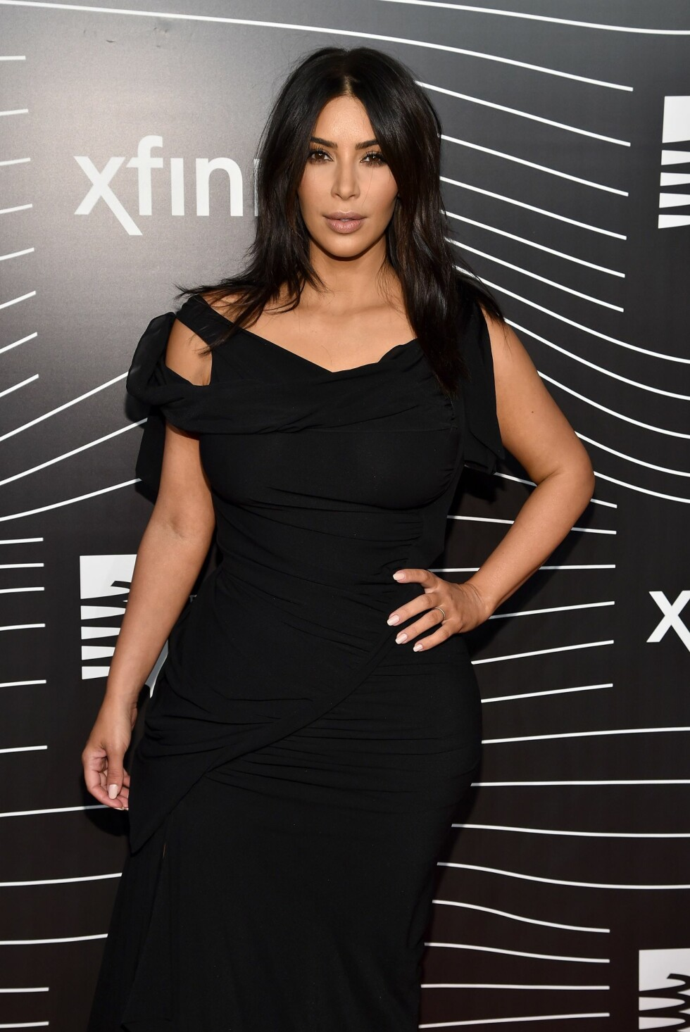 VÅREN 2016: Kim Kardashian viste frem former under et arrangement i New York våren 2016. Foto: NTB Scanpix