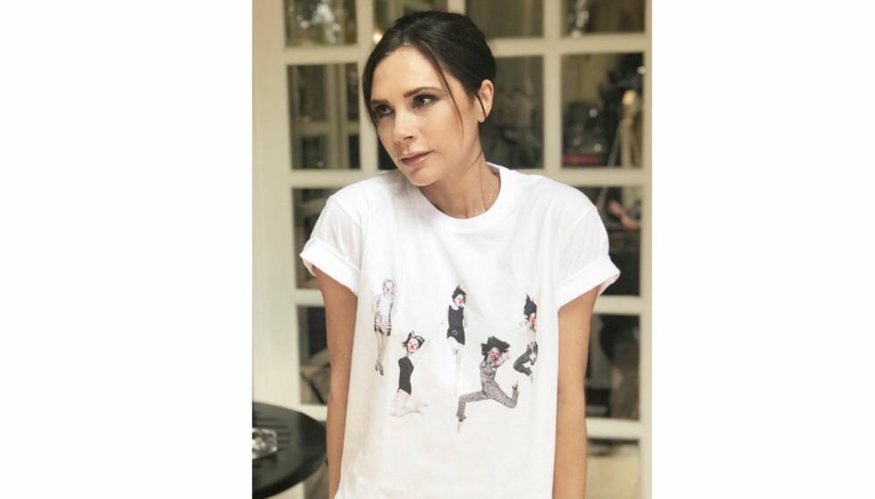 SPICE GIRLS: Tidligere Spice Girls-medlem Victoria Beckham har gjort suksess som klesdesigner, og har designet en egen Spice Girls-t-skjorte til veldedighet. FOTO: Omaze