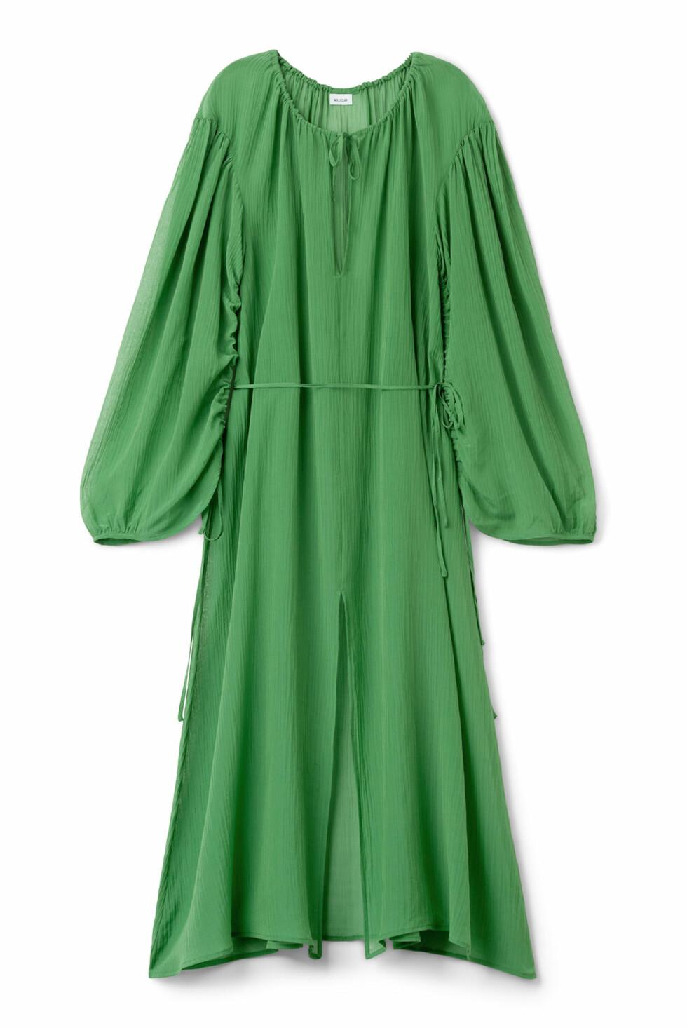 Kjole fra Weekday |1200,-| https://www.weekday.com/en_sek/women/categories/dresses-and-jumpsuits/_jcr_content/subdepartmentPar/productlisting.products/product.vinyana-dress-green.0588312001.html