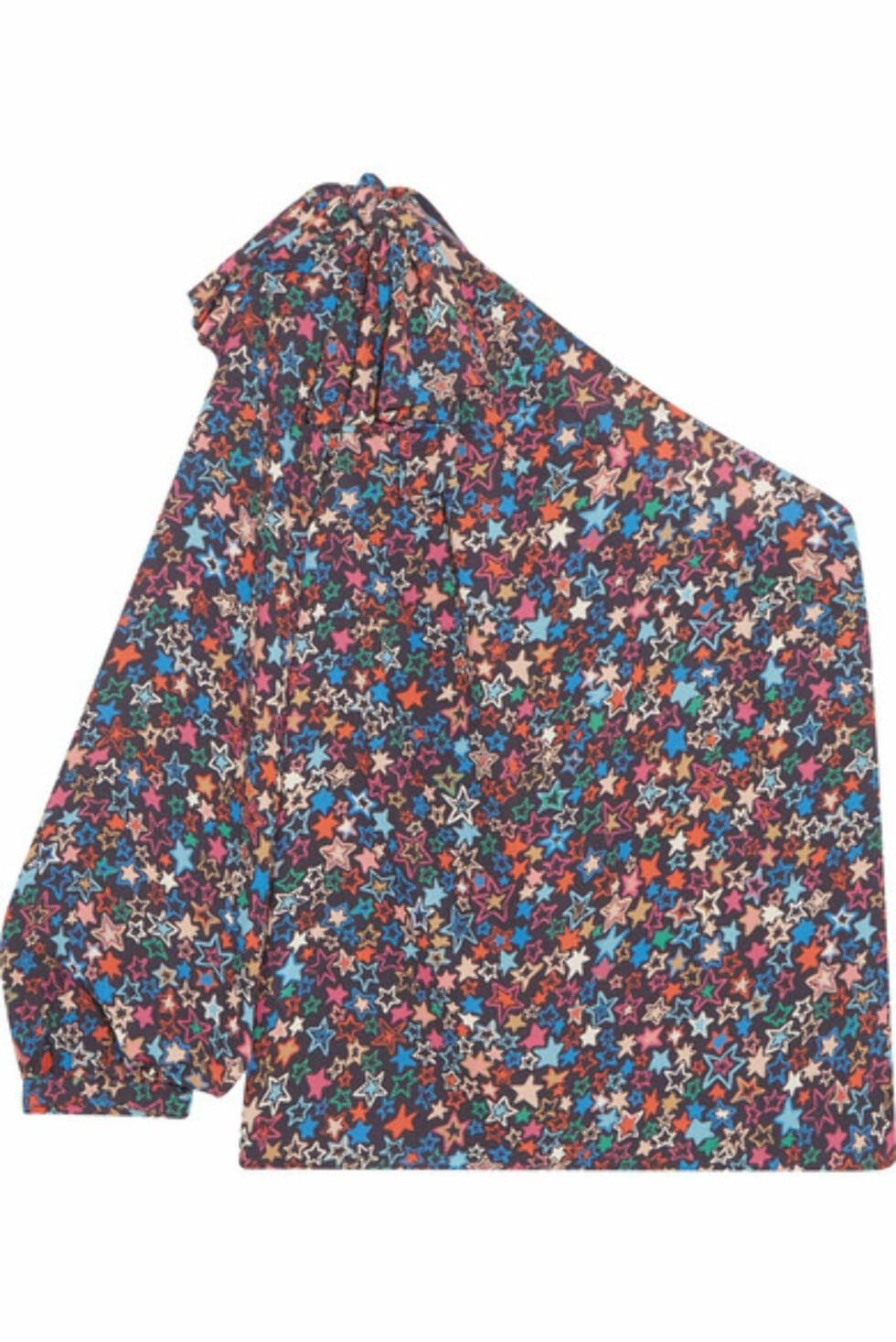 Fra J.CREW |1200,-| https://www.net-a-porter.com/no/en/product/975189/j_crew/jacuzzi-one-shoulder-printed-crepe-de-chine-top
