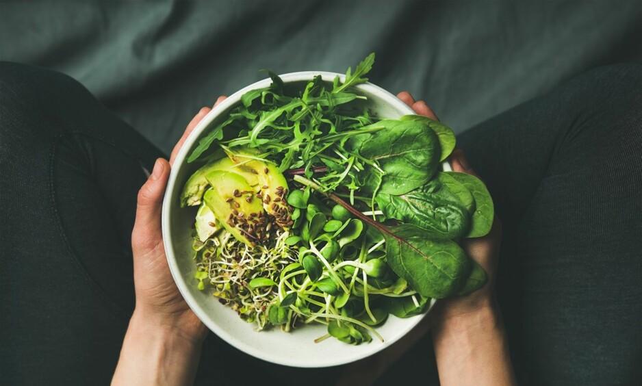 <strong>SUNN ENERGI:</strong> Spinat og avokado er blant de matvarene som gir deg en ny giv i hverdagen. FOTO: NTB Scanpix
