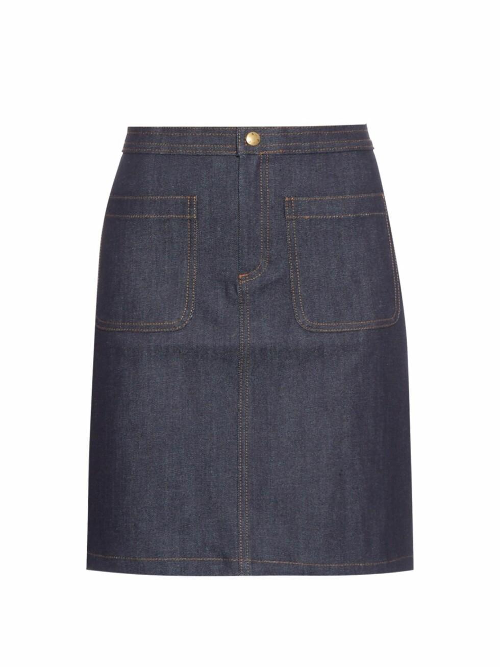 Skjørt fra APC |830,-| https://www.matchesfashion.com/intl/products/A-P-C--Patch-pocket-denim-skirt--1037518