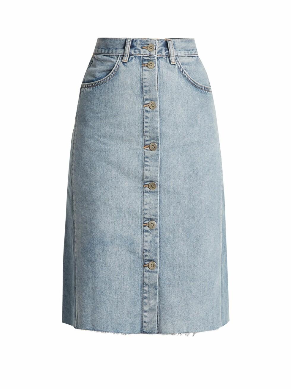Skjørt fra Mih Jeans |885,-| https://www.matchesfashion.com/intl/products/A-P-C--Patch-pocket-denim-skirt--1037518