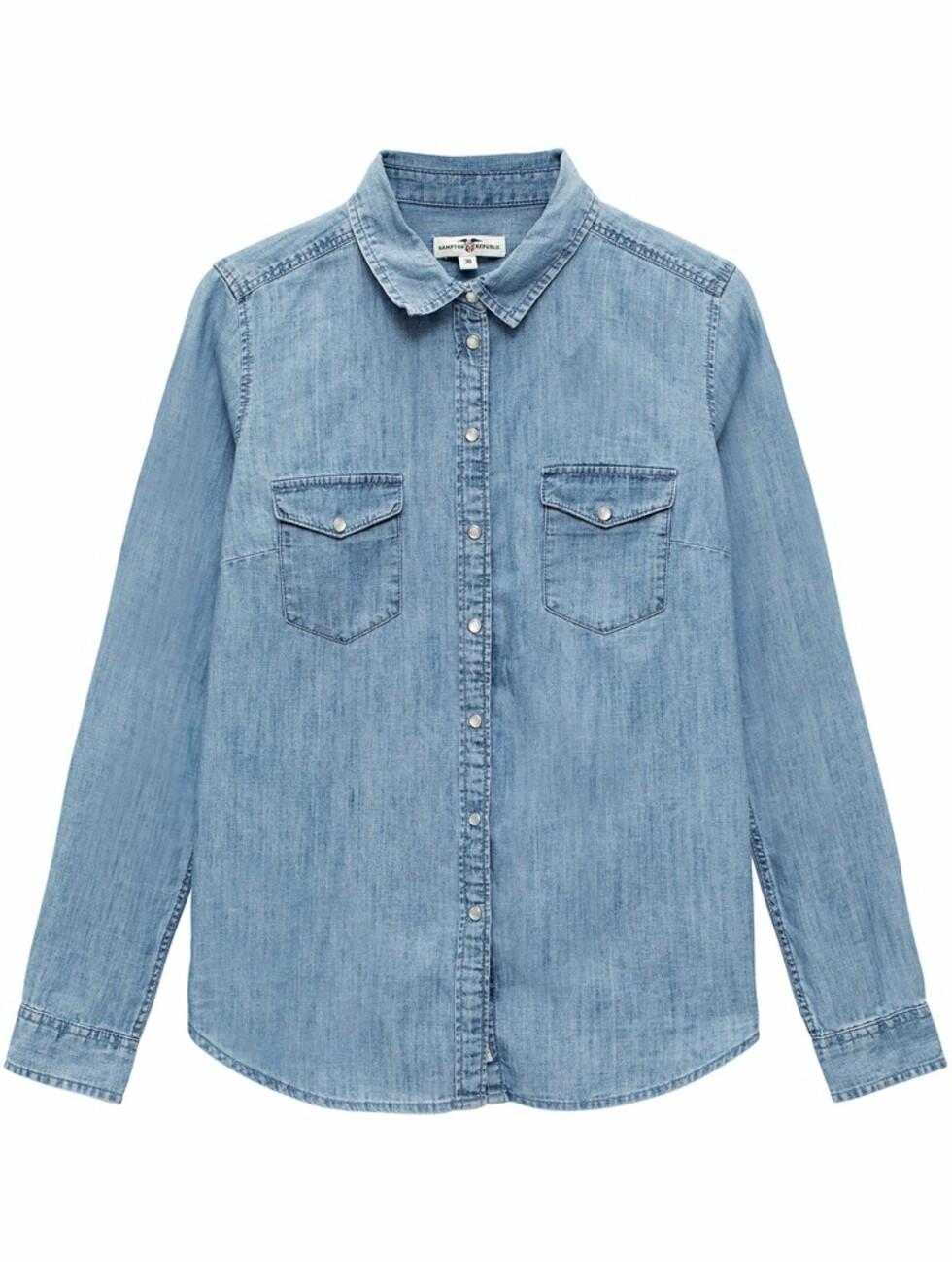 Skjorte fra Kappahl |399,-| https://www.kappahl.com/nn-no/dame/skjorter/jeansskjorte/872564