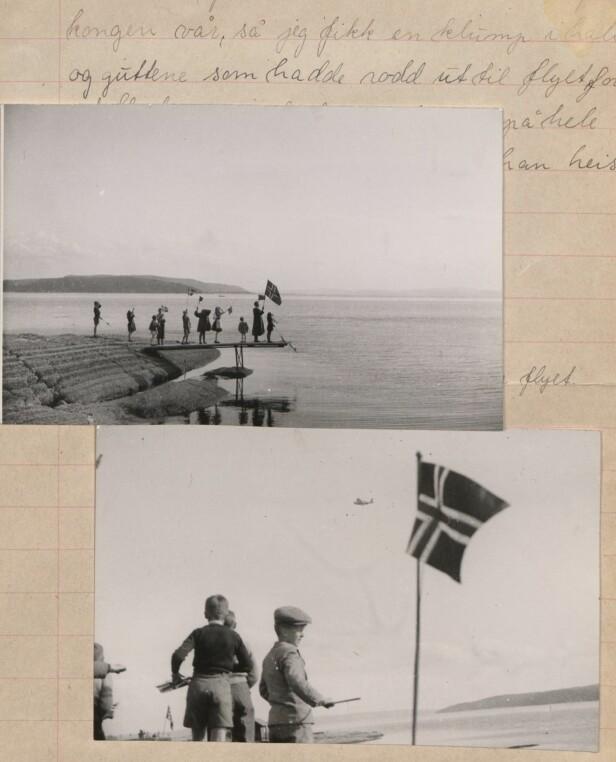 FRIGJØRINGEN: «Første fly fra England til Norge», skriver Grete-Marie Beckman til bildet hun har lagt ved stilen. Bildene er tatt av hennes far. FOTO: Originalen er i Riksarkivet // Det Norske Totalavholdsselskap RA/PA-0419/E/Eb/L0603/0004