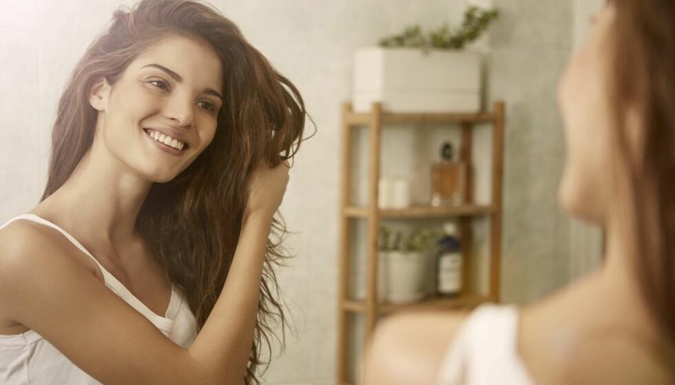 SUNT HÅR: Et godt kosthold gjør at håret ditt holder seg sterkt. FOTO NTB Scanpix