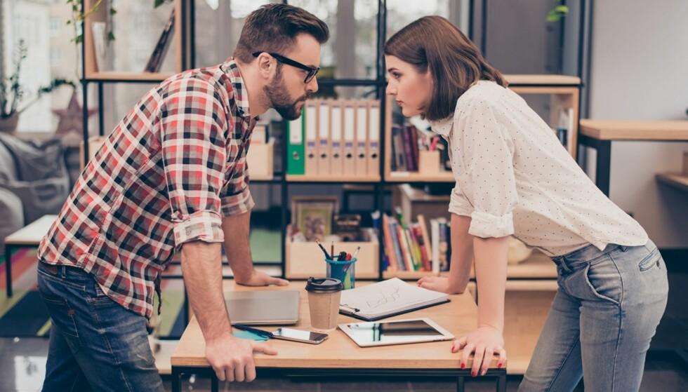 KONFLIKT: Krangling på jobb bunner ofte i noe helt annet enn selve jobben. FOTO: Shutterstock