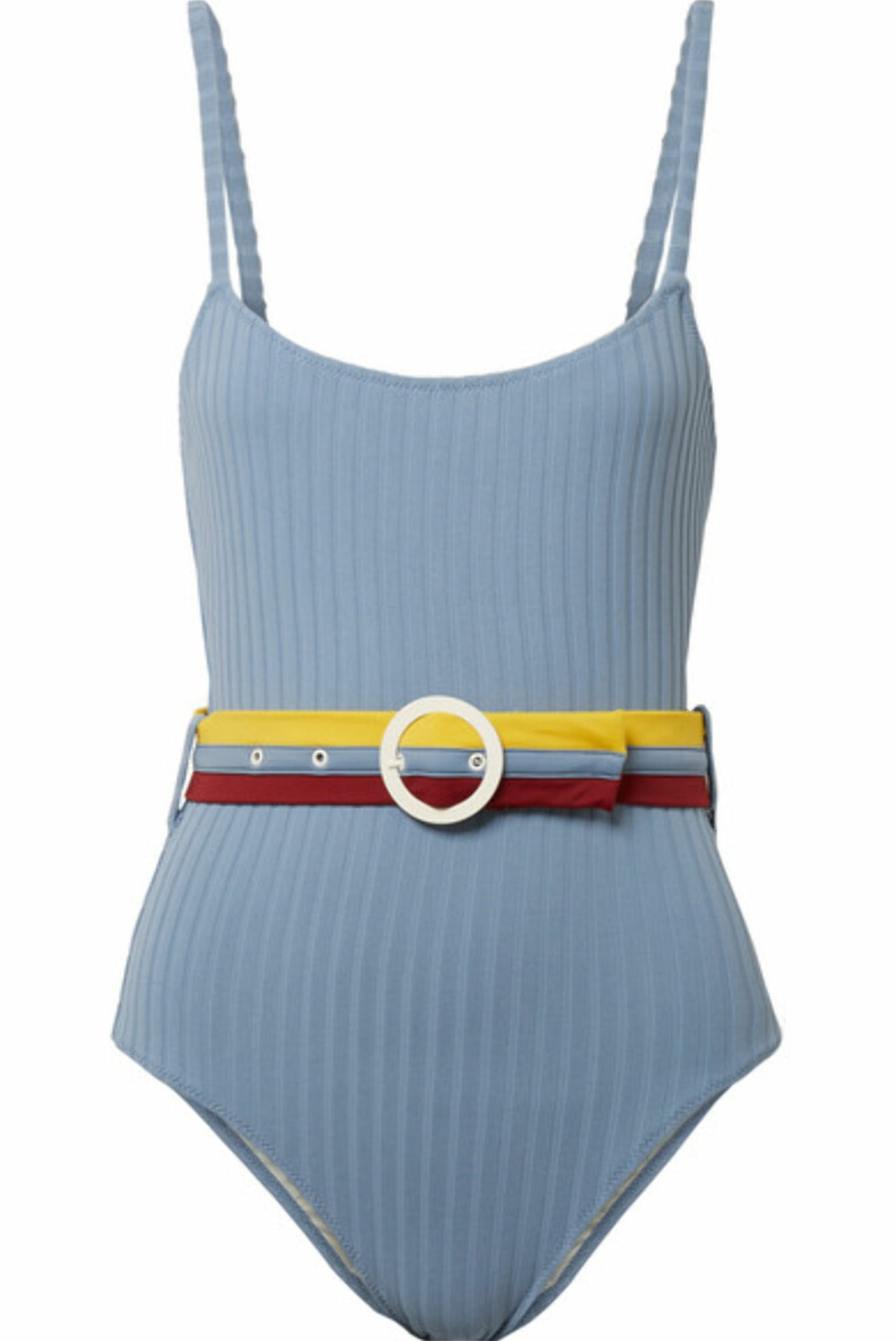 Badedrakt fra Solid & Striped |1785,-| https://www.net-a-porter.com/no/en/product/998297/solid___striped/the-nina-belted-ribbed-stretch-knit-swimsuit
