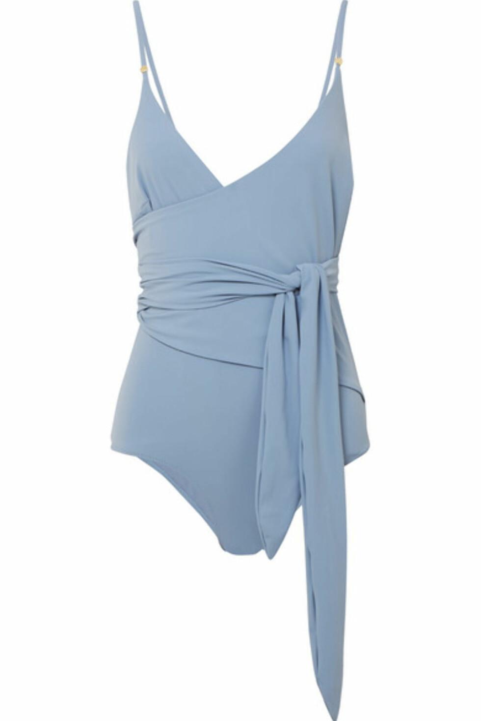Badedrakt fra Stella McCartney |2244,-| https://www.net-a-porter.com/no/en/product/991157/stella_mccartney/wrap-swimsuit
