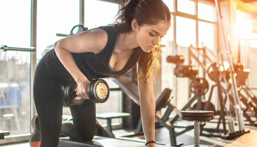 STERKE ARMER: Rekkefølgen på treningen kan faktisk ha noe å si. FOTO: NTB Scanpix
