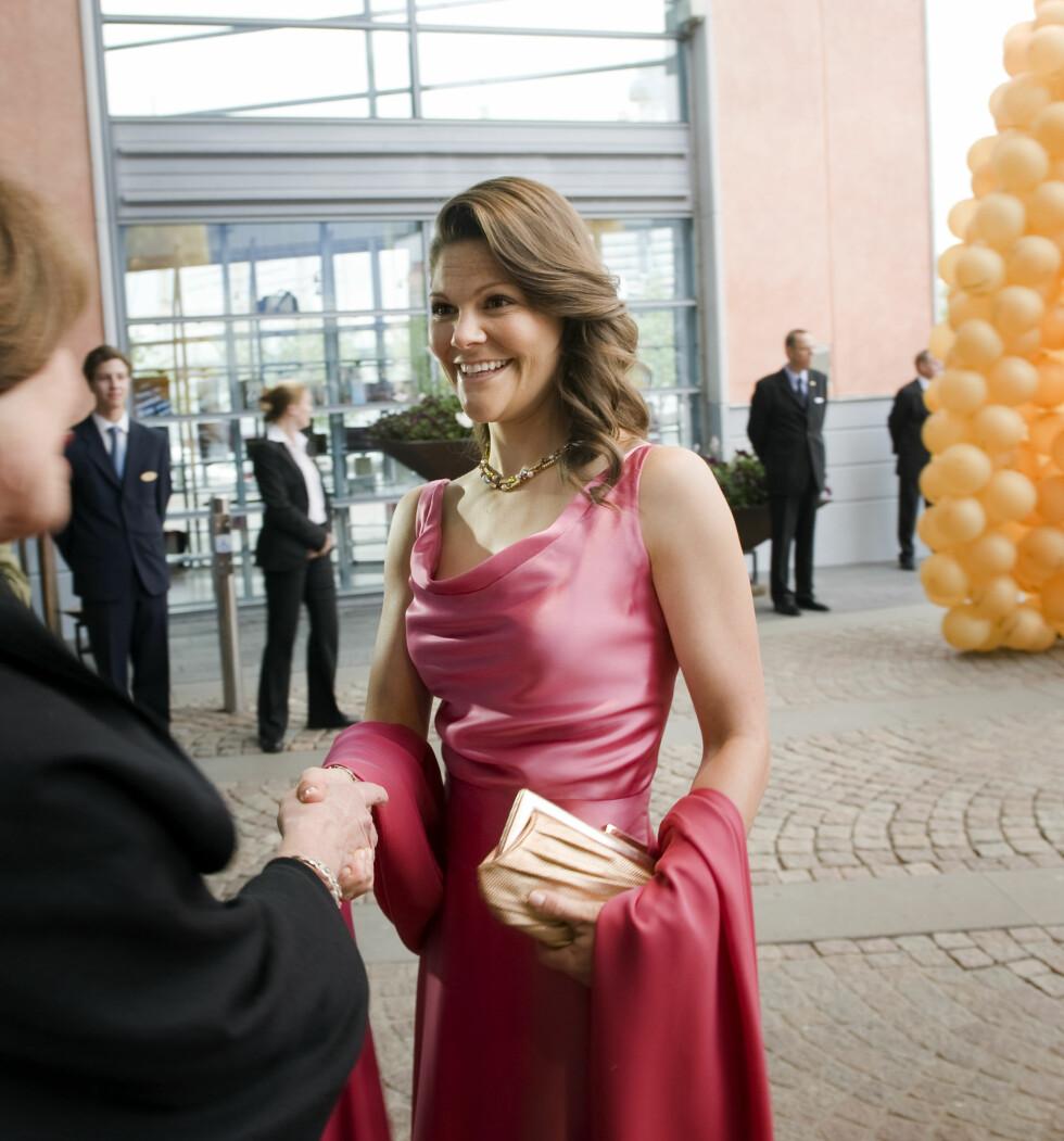 BØLGER: I 2009 deltok kronprinsesse Victoria på feiring av World Childhood Foundations 10-årsjubileum. FOTO: NTB scanpix