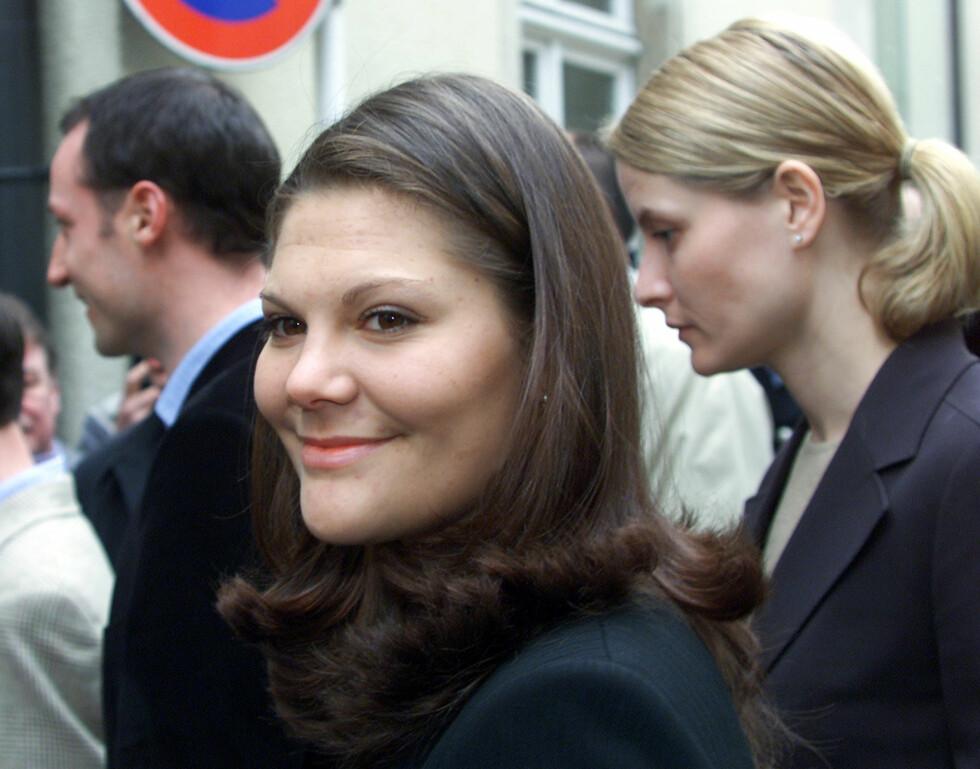 FEIRING: Kronprinsesse Victoria fotografert i 2001 i forbindelse med Luxembourgs feiring av storhertug Henris overtagelse av tronen. FOTO: NTB scanpix