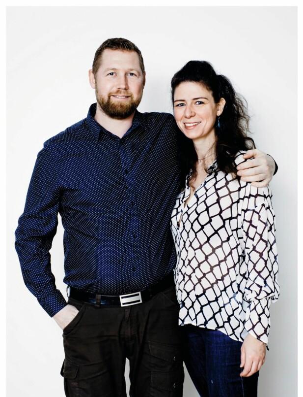 PARFORHOLD: Margrethe Østergaard (36) er student, og Christian Andersen (40) underviser dyslektikere. De har vært kjærester i et år og bor i hver sin leilighet. Margrethe er mor til Anna (9) og Anders (7). FOTO: Claus Boesen og Runolfur Godbjörnsson