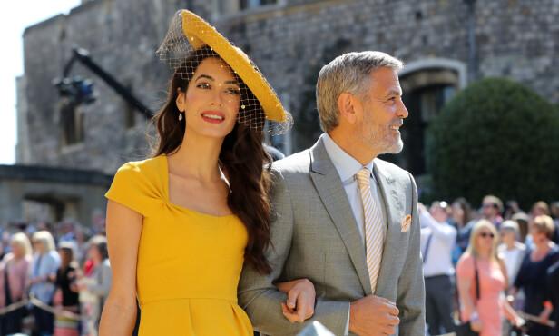 <strong>GJESTER:</strong> Amal og George Clooney var gjester i bryllupet. FOTO: NTB Scanpix