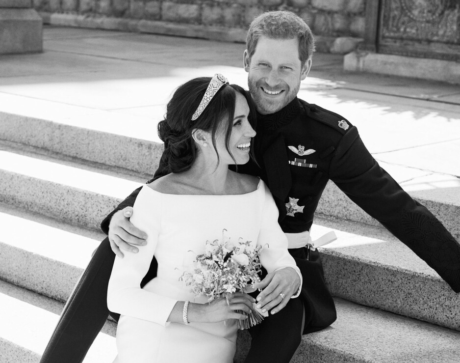 MEGHAN MARKLE PRINS HARRY: Nå er de endelig gift! FOTO: NTB Scanpix