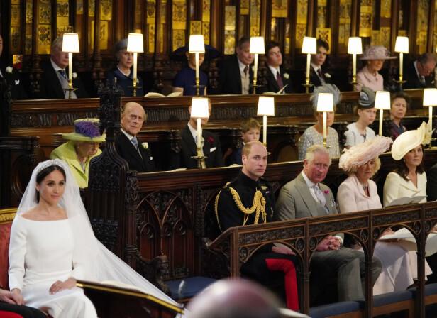 ETT LEDIG SETE: Plassen ved siden av prins William sto tom under hele vielsen. Vi liker å tro at den var reservert for avdøde prinsesse Diana. Foto: Scanpix