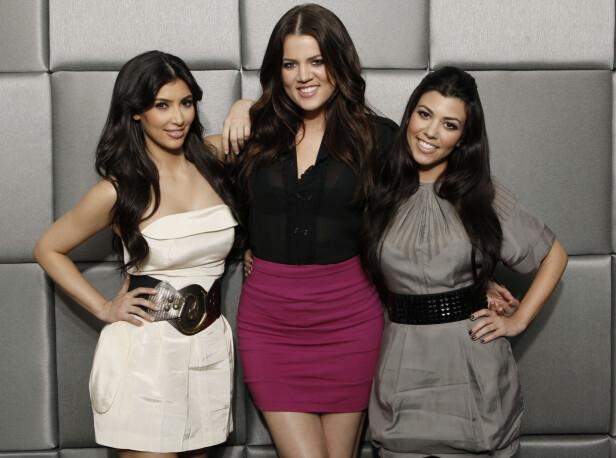 KARDASHIAN-SØSTRENE: Kim, Khloe og Kourtney har tjent store penger på tv-serien Keeping Up With The Kardashians. Foto: Scanpix