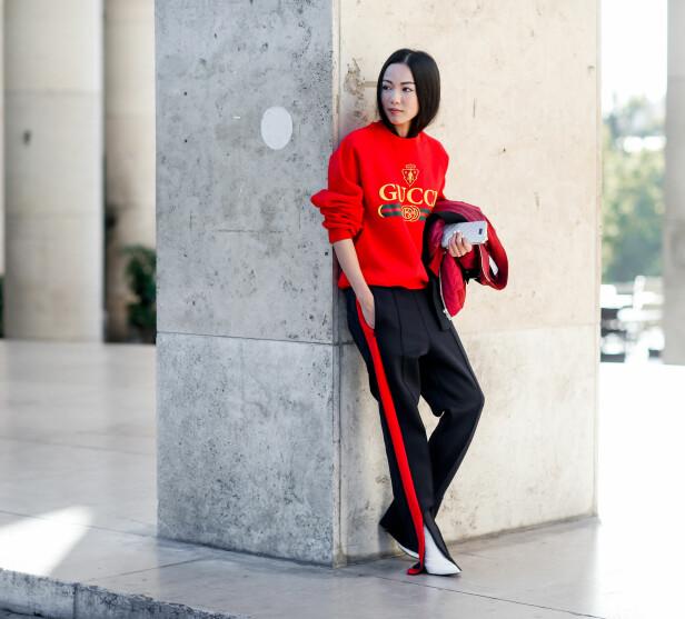 GJØR ET STATEMENT: Guccis varianter i gensere og t-skjorter har vært svært så populære i lang tid. Foto: Scanpix