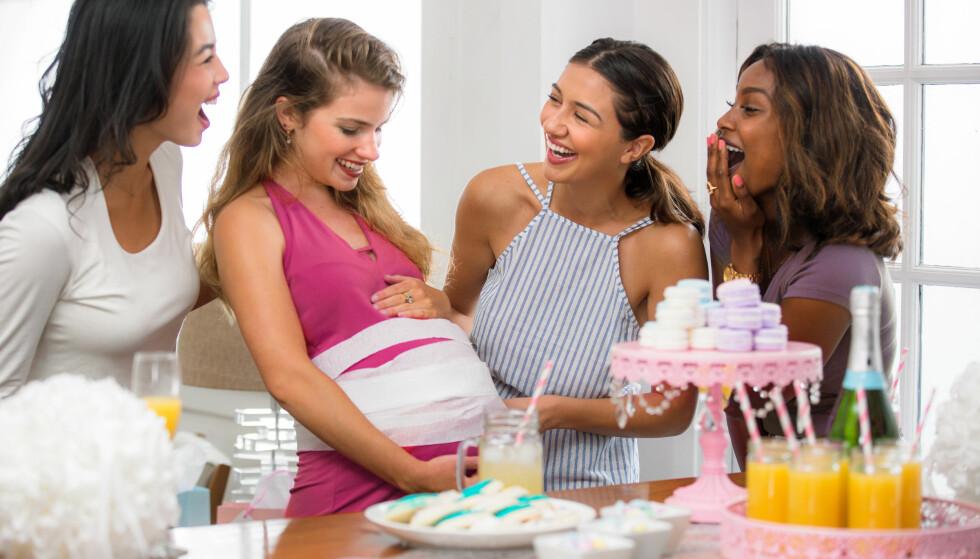 BABYSHOWER: En overraskelsesfest arrangert av venner og familie for å feire den kommende moren har blitt mer og mer vanlig i Norge de siste årene. FOTO: NTB Scanpix