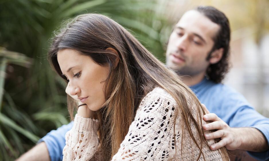 KRANGEL: Tenker du at det er partneren din som er problemet når dere krangler? Det bør du ikke... FOTO: NTB Scanpix