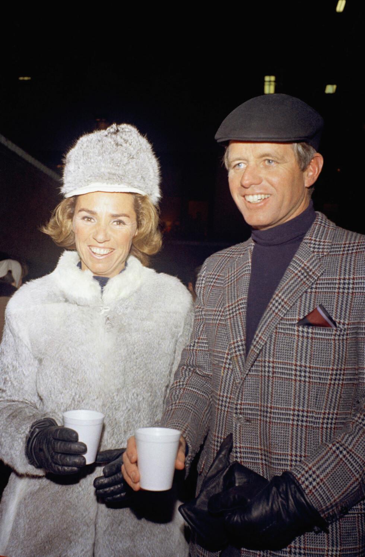 <strong>DET SISTE ÅRET:</strong> Ethel og Robert Kennedy fotografert i New York i februar 1968 - fire måneder før han ble skutt. FOTO: NTB Scanpix