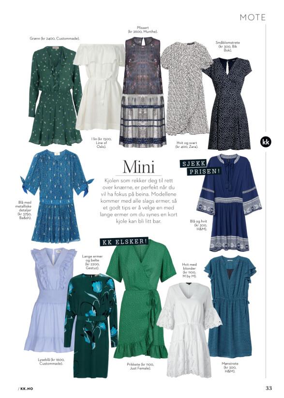 Mini, midi eller maxi? Her er sommerens fineste kjoler