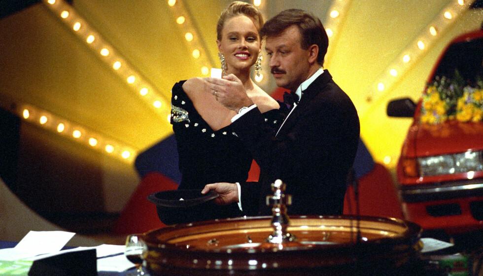 CASINO: Birgitte Seyffarth og Hallvard Flatland ledet Casino sammen fra 1989 til 1993. Dette bildet er fra 1991. FOTO: NTB Scanpix