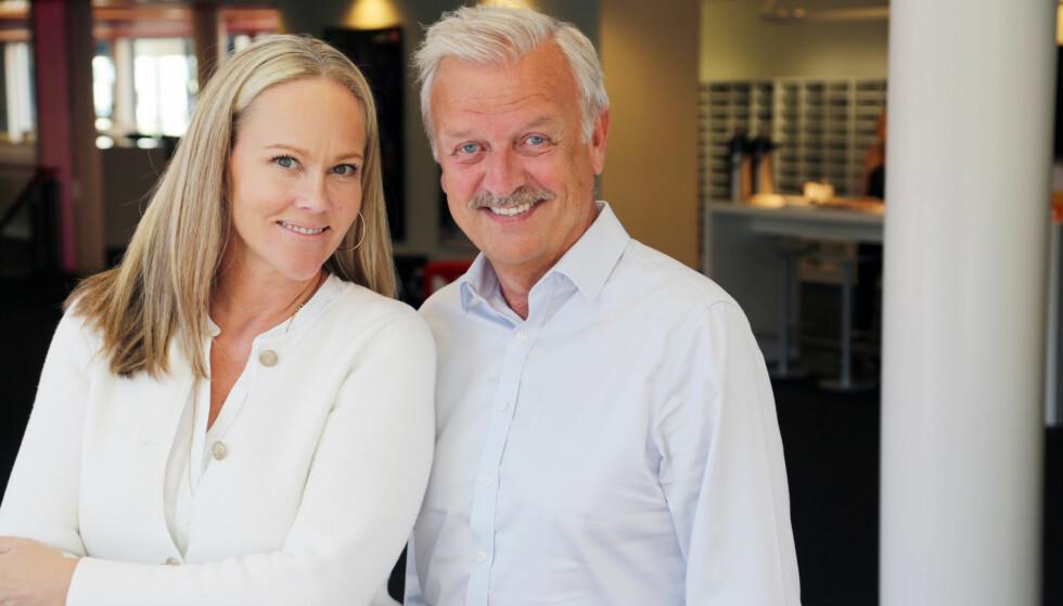 SAMMEN PÅ SKJERMEN IGJEN: Hallvard Flatland og Birgitte Seyffarth gleder seg til jubileumsepisodene av Casino. FOTO: TVNorge