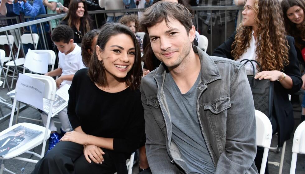 KJENDISPAR: Akkurat som oss finner også mange av Holleywood-skuespillerne kjærligheten på jobb. Som Ashton kutcher og Mila Kunis. FOTO: NTB SCANPIX