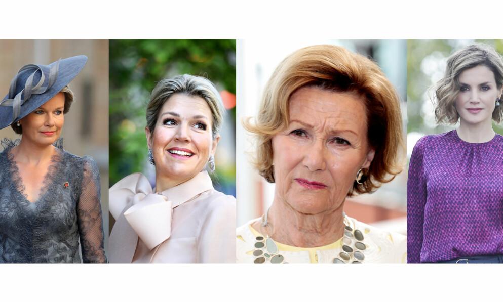 KONGELIG: Både dronning Mathilde av Belgia, dronning Máxima av Nederland, dronning Sonja av Norge og dronning Letizia av Spania har alle opplevd å miste sine søstre på tragisk vis. FOTO: NTB