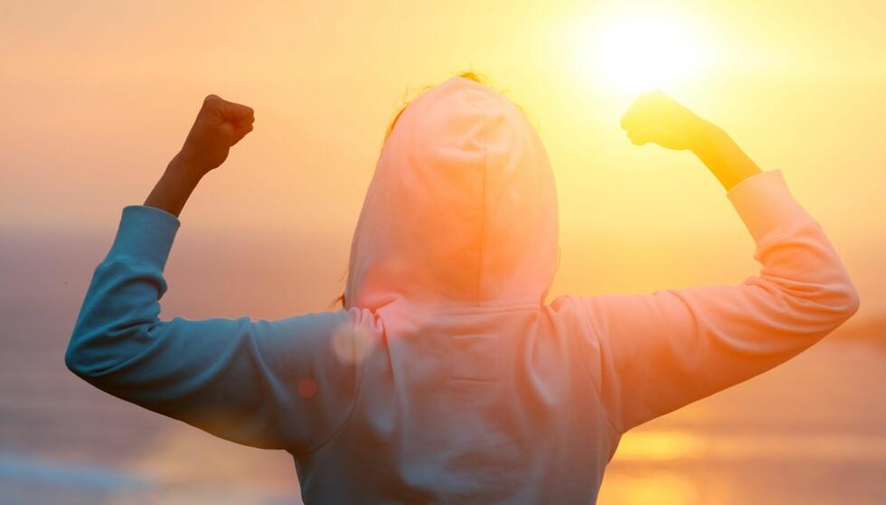 MENTAL STYRKE: Å kunne kontrollere negative tanker er en av nøklene til å komme seg gjennom en tøff utfordring. FOTO: Shutterstock