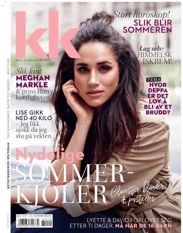PÅ COVERET AV KK: Hertuginnen Meghan pryder det nyeste KK-bladet som er i butikk nå.