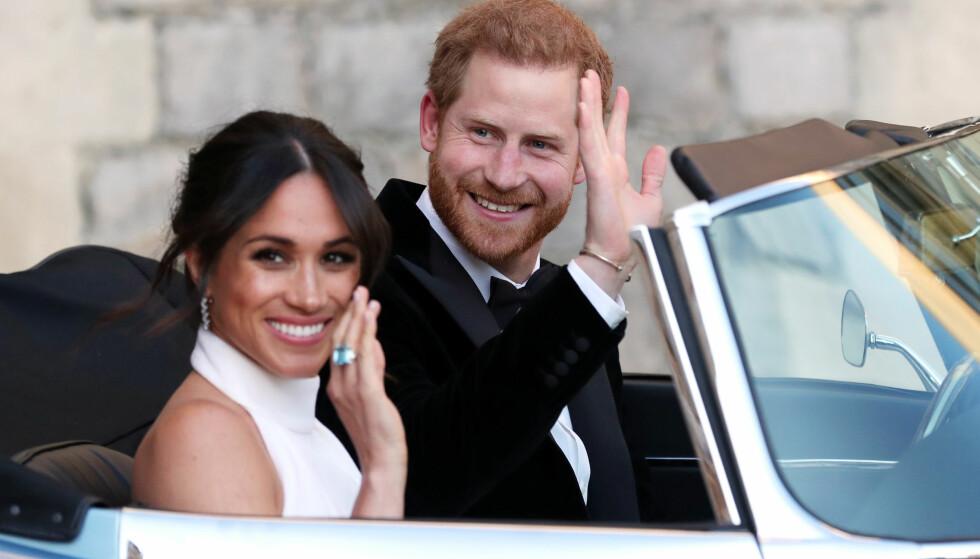 MEGHAN MARKLE BRUDEKJOLE: Nå kan du kjøpe en kopi av den andre brudekjolen til den nye hertuginnen. Foto: Scanpix