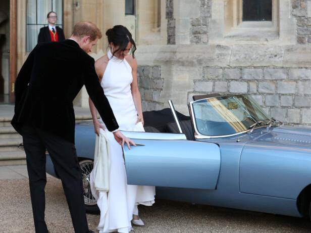 VAKKER: Hertuginne Meghan så helt nydelig ut i kjolen fra Stella McCartney. Foto: Scanpix