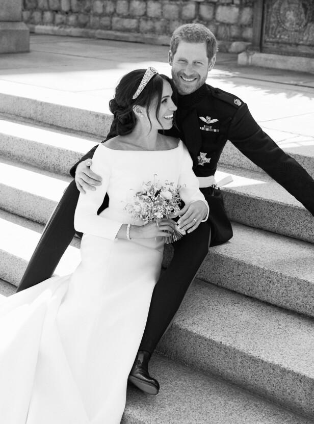 NYGIFT: Hertuginne Meghan hadde på seg brudekjole fra Givenchy da hun giftet seg med prins Harry. Foto: Alexi Lubomirski/NTB Scanpix