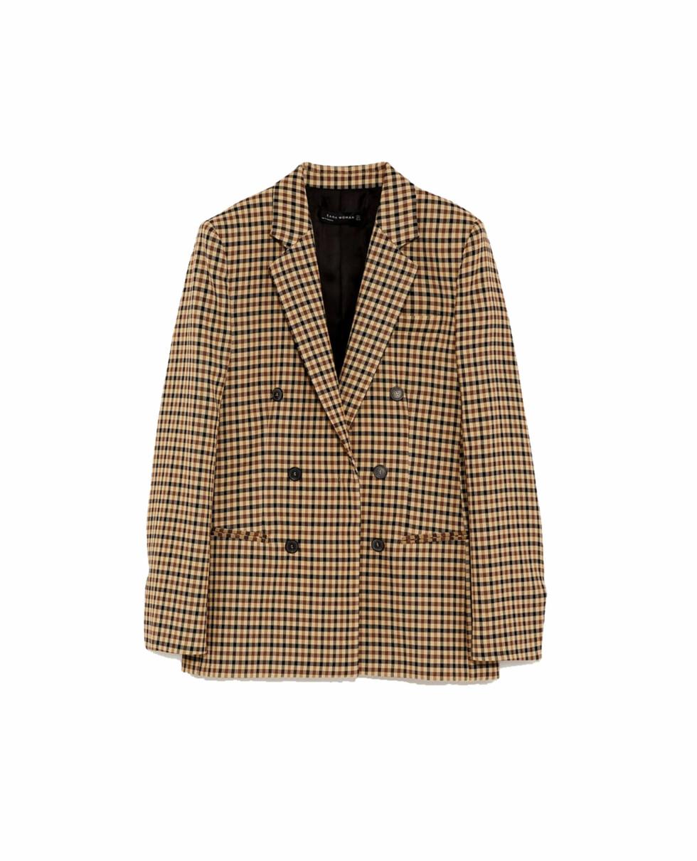 Blazer fra Zara |600,-| https://www.zara.com/no/no/rutet-jakke-p02071613.html?v1=5383527&v2=828222