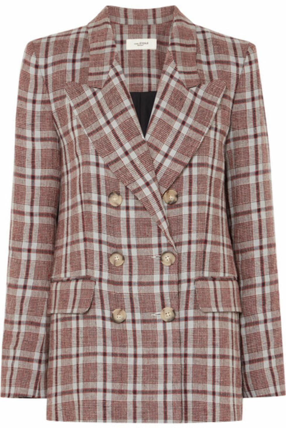 Blazer fra Isabel Marant Etoile |2900,-| https://www.net-a-porter.com/no/en/product/987925/isabel_marant_etoile/ianey-checked-linen-blazer