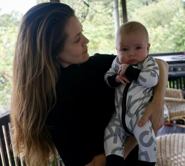 STOLT MOR: Hayley fant sæddonor via Facebook. Et valg hun absolutt ikke angrer på. Foto: Privat