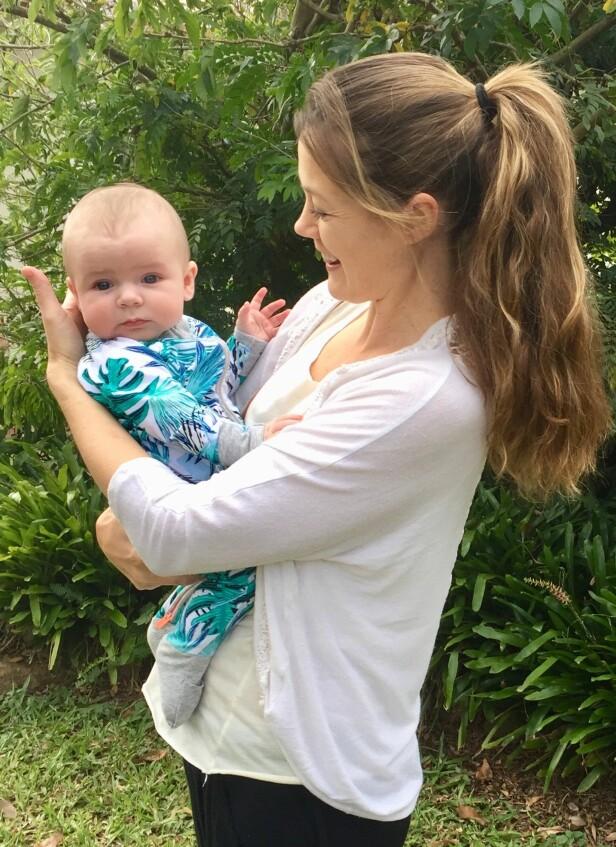 ÅPEN OM VALGET: Å finne en donor til barnet sitt via Facebook, er noe Hayley kommer til å fortelle sønnen om når han blir eldre. Foto: Privat