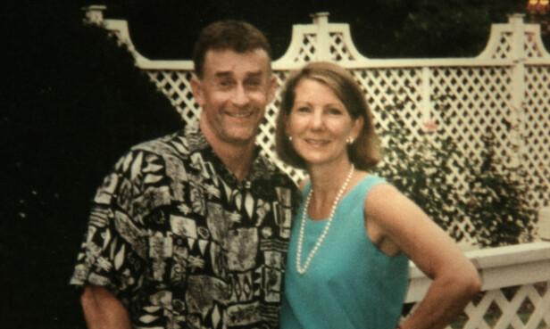 LYKKELIG EKTESKAP?: Michael Peterson giftet seg med Kathleen Atwater, en hardtarbeidende bedriftsjef for teleselskapet Nortel, i 1997. Sammen fostret de opp fem barn. Hun døde 9. desember 2001 - 48 år gammel. FOTO: Netflix