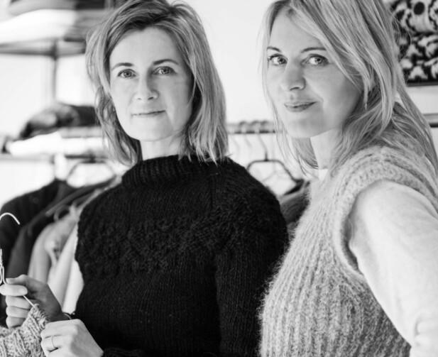 SUKSESSDUO: Gudrun Ludvig (t.v) er sjefsdesigner i strikkesuksessen og Gudrun Rogvadottir er partner. FOTO: Privat