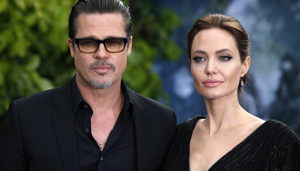 ALKOHOL: Før Angelina Jolie og Brad Pitt gikk fra hverandre lanserte de et eksklusivt parti vin fra sitt vinslott i Provence. FOTO: NTB Scanpix