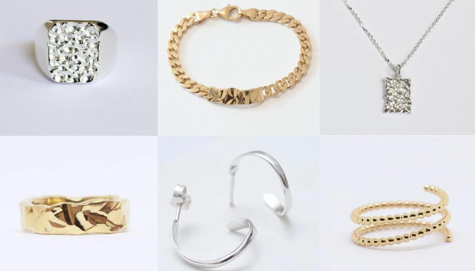 Prisen på disse smykkene fra Camille Brinch varierer fra 600 kroner til 1300. Foto: Produsenten