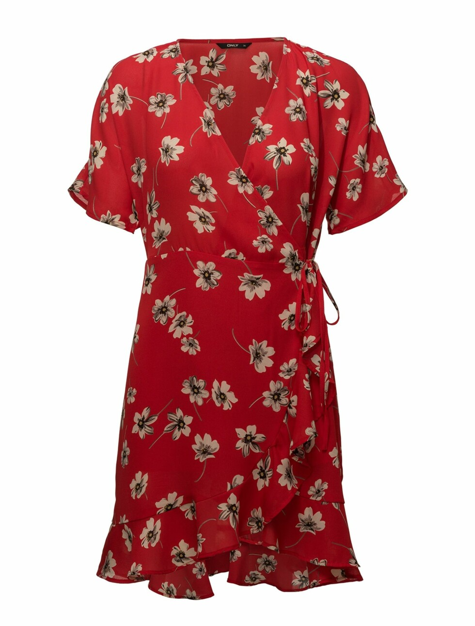 Kjole fra Only  280,-  https://www.boozt.com/no/no/only/onljenifer-s-s-wrap-dress-wvn_17850466/17850473?navId=67453&group=listing&position=1000000