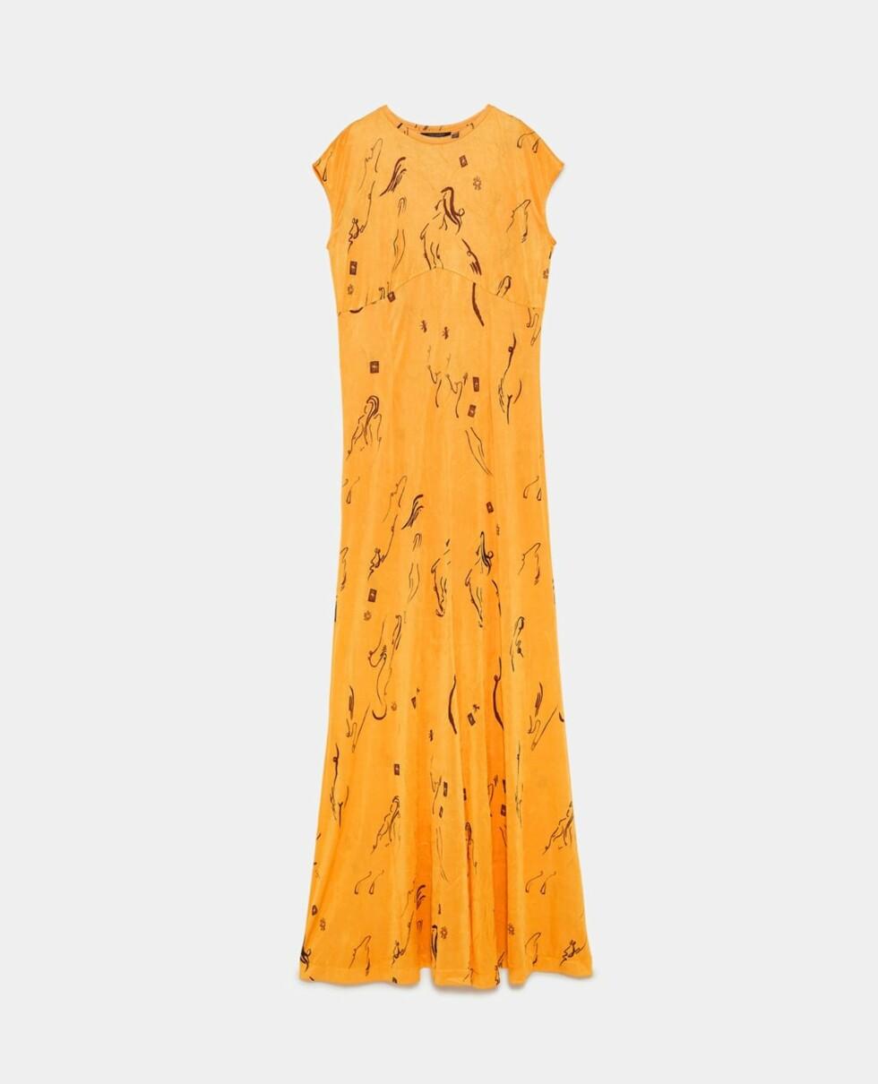 Kjole fra Zara  200,-  https://www.zara.com/no/no/lang-m%C3%B8nstret-kjole-p04770006.html?v1=5995012&v2=731576