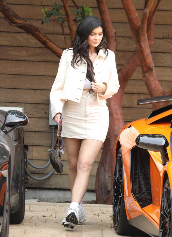 Kylie Jenner forlater Nobu.