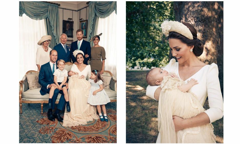 HERTUGINNE KATE: Det er ingen tvil om at hertuginne Kate er en kjærlig og varm trebarnsmor. Her er de offisielle dåpsbildene fra prins Louis' dåp 9. juli. FOTO: Matt Holyoak // Kensington Palace